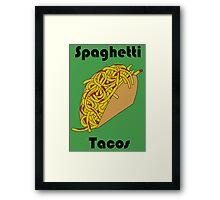 Spaghetti Taco Framed Print