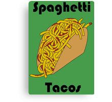 Spaghetti Taco Canvas Print