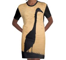 Lone Bird Graphic T-Shirt Dress