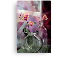 Still Life With Ribbed Glass Canvas Print