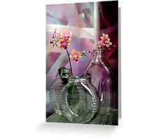 Still Life With Ribbed Glass Greeting Card