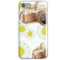 pattern. camera with flowers  iPhone Case/Skin