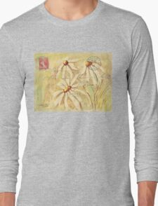 Daisies in Spring Postcard 2 Long Sleeve T-Shirt