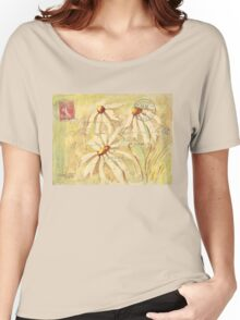 Daisies in Spring Postcard 2 Women's Relaxed Fit T-Shirt