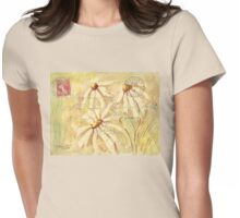 Daisies in Spring Postcard 2 Womens Fitted T-Shirt