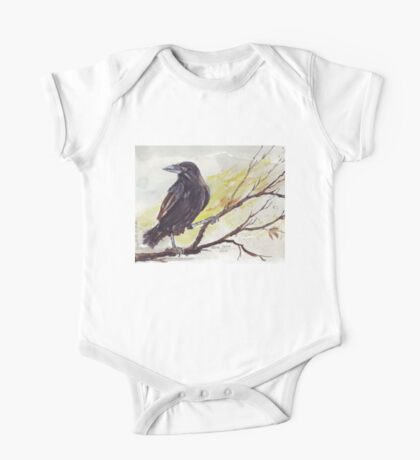 Crow on a bough - Coco One Piece - Short Sleeve