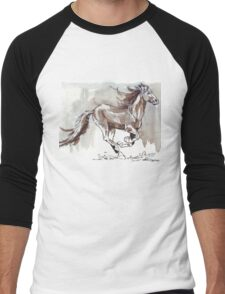 A handful of Southerly wind ... Wild horses in South Africa Men's Baseball ¾ T-Shirt