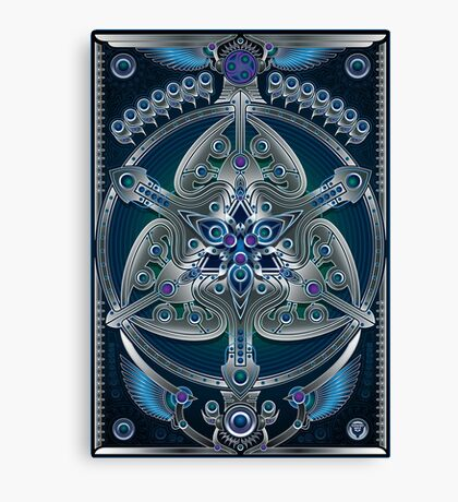 Unique abstract poster designs-Silver Clover Canvas Print