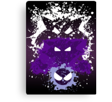 Gastly, Haunter, and Gengar Splatter Canvas Print