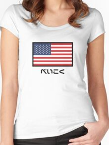 USA National Flag (Japanese Version) Women's Fitted Scoop T-Shirt