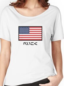 USA National Flag (Japanese Version) Women's Relaxed Fit T-Shirt