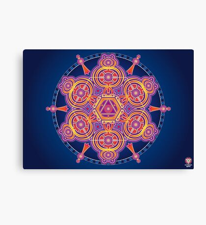 Unique abstract poster designs-Hexagon Serpents Canvas Print