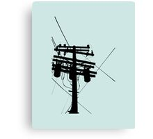 Telephone Pole Silhoute Canvas Print