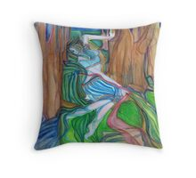 River Nymph/The Blue Hour Throw Pillow