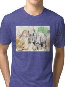Two White Rhinos Tri-blend T-Shirt