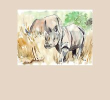 Two White Rhinos Unisex T-Shirt