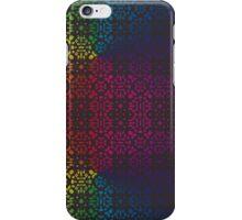 Batik Rainbow 100 - Black iPhone Case/Skin