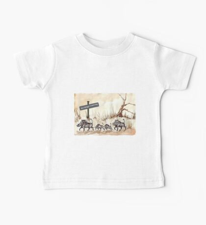 Warthogs Crossing Baby Tee
