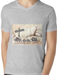 Warthogs Crossing Mens V-Neck T-Shirt