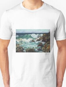 Tide coming in at Pandanus Cove - plein air Unisex T-Shirt