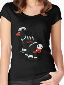 Houndour and Houndoom Splatter Women's Fitted Scoop T-Shirt