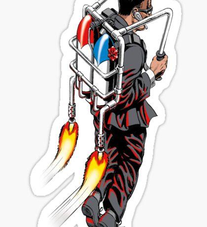 Jetpack Man Sticker