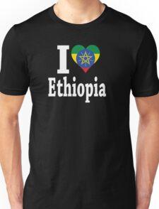 I Love Ethiopia Flag t-shirt Unisex T-Shirt