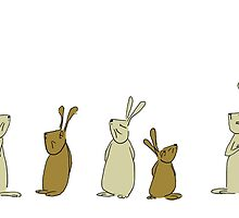 pensive bunnies by Sandy Mitchell