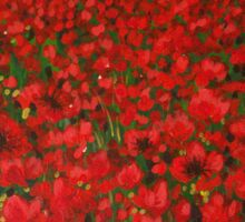 Sea of Poppies Sticker
