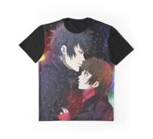 akane and kogami in the snow Graphic T-Shirt