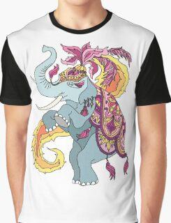 Elephant Illustration Graphic T-Shirt