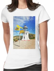 Old lighthouse in watercolor Womens Fitted T-Shirt