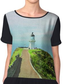 Old lighthouse in watercolor Chiffon Top