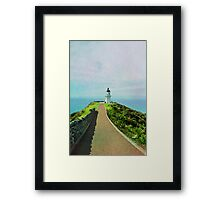 Old lighthouse in watercolor Framed Print