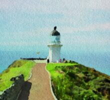 Old lighthouse in watercolor Sticker