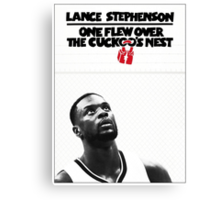 Lance Stephenson - One Flew Over the Cuckoo's Nest Canvas Print