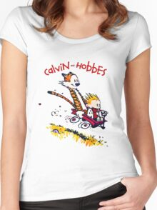Calvin and Hobbes T-shirt - Funny shirt  Women's Fitted Scoop T-Shirt