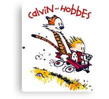 Calvin and Hobbes T-shirt - Funny shirt  Canvas Print