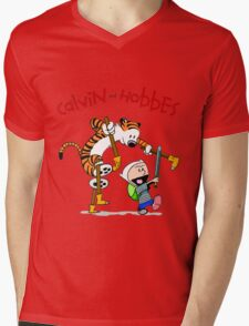 Calvin and Hobbes T-shirt - So cute SHirt  Mens V-Neck T-Shirt