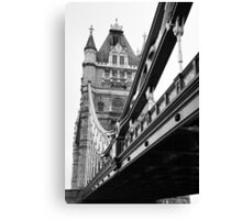 Tower Bridge in Black and White Canvas Print