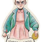 Eleven and Her Eggos by ProfessorBees