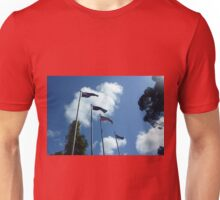 Flags at City of Wyndham Town Hall, Vic. Australia Unisex T-Shirt