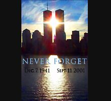 Remember Sept 11th - never forget t-shirt  Unisex T-Shirt