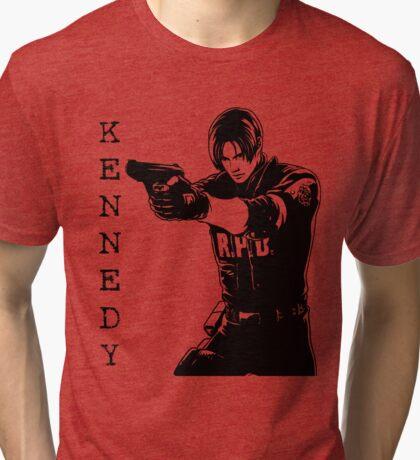 Leon Kennedy Resident Evil 2 Tri-blend T-Shirt