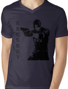 Leon Kennedy Resident Evil 2 Mens V-Neck T-Shirt