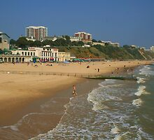 Bournemouth Beach And East Cliff by RedHillDigital
