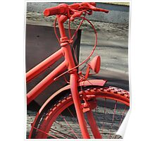 Cycling Red Poster