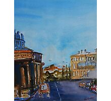 Streetscape Lancefield (watercolour) Victoria Australia Photographic Print