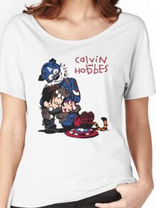 Calvin Meets His Idol : Captain Hobbesca Women's Relaxed Fit T-Shirt