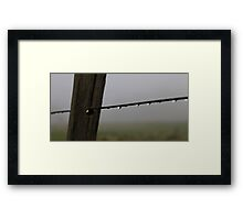water on a wire Framed Print